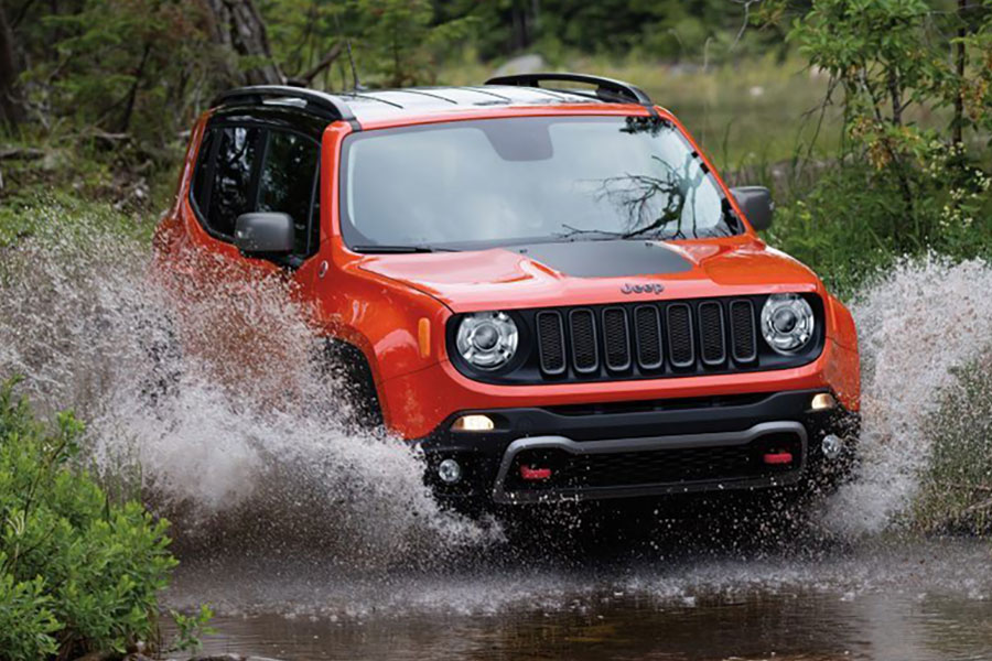 2018 Jeep Renegade off the Road
