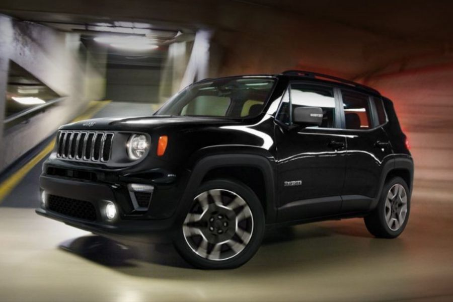 2019 Jeep Renegade on the Road