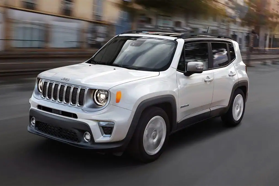 2021 Jeep Renegade on the Road