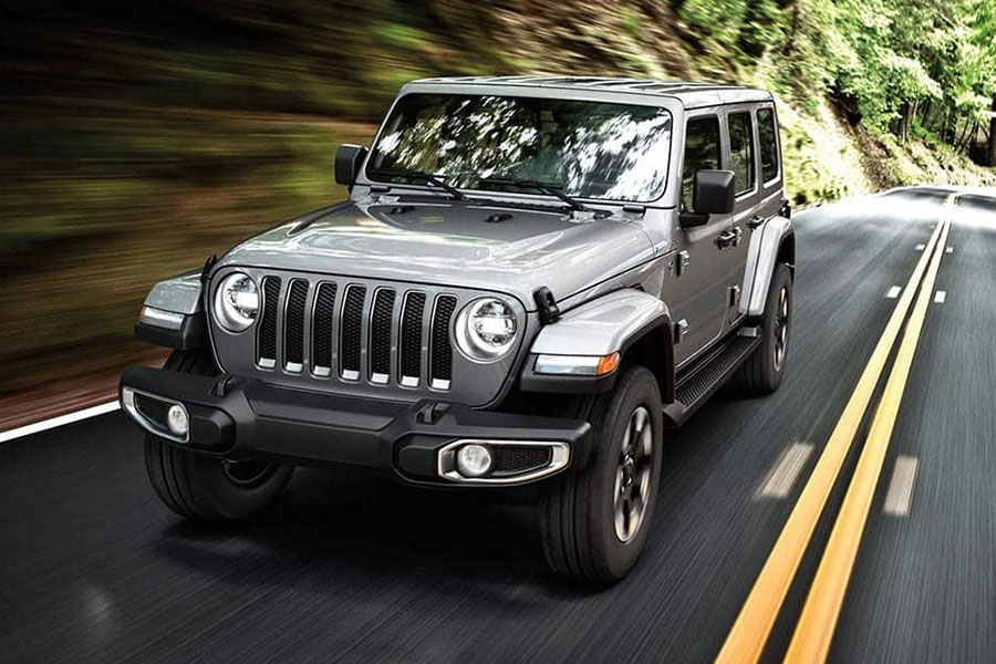 2019 Jeep Wrangler Unlimited on the Road