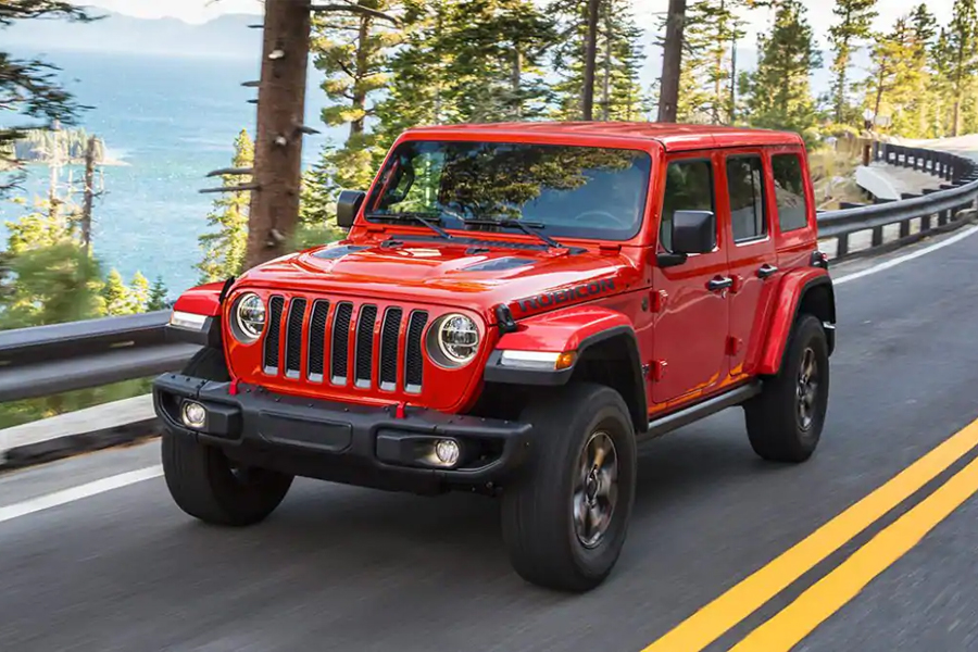 2021 Jeep Wrangler on the Road