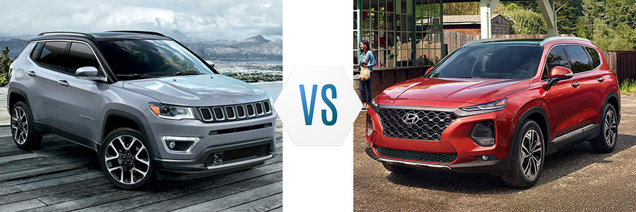 2019 Jeep Compass vs Hyundai Santa Fe
