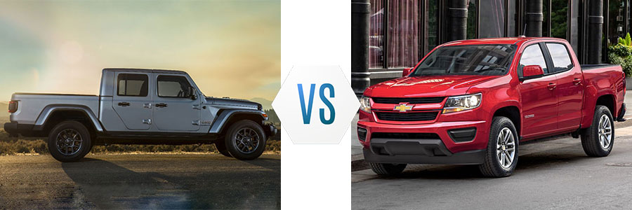 2020 Jeep Gladiator vs Chevrolet Colorado