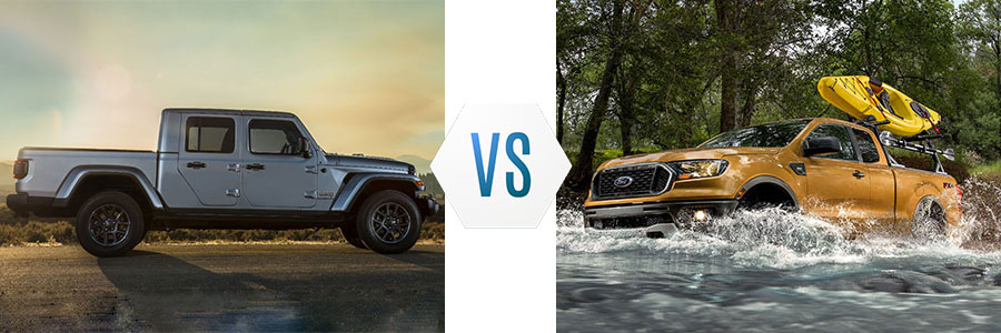 2020 Jeep Gladiator vs Ford Ranger