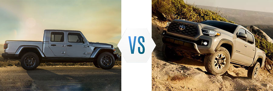 2020 Jeep Gladiator vs Toyota Tacoma