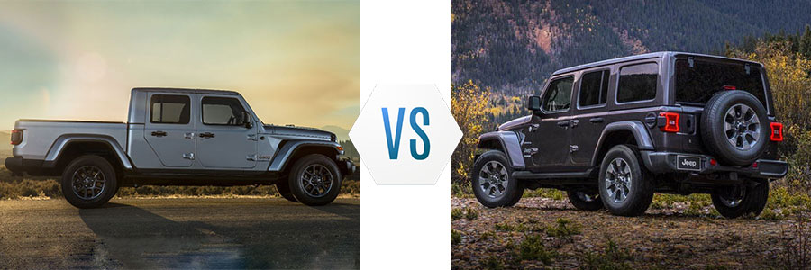 2020 Jeep Gladiator vs Wrangler