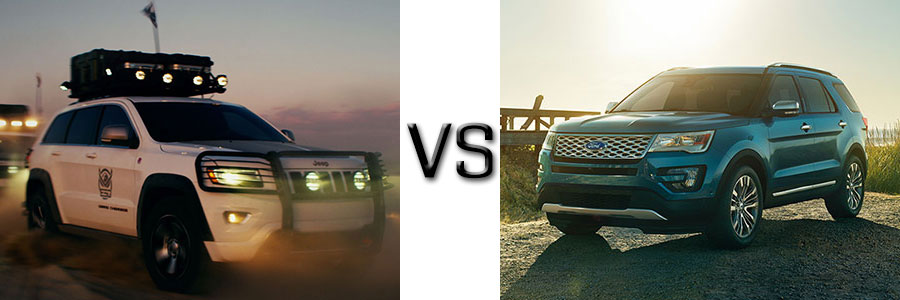 2017 Jeep Grand Cherokee vs Ford Explorer