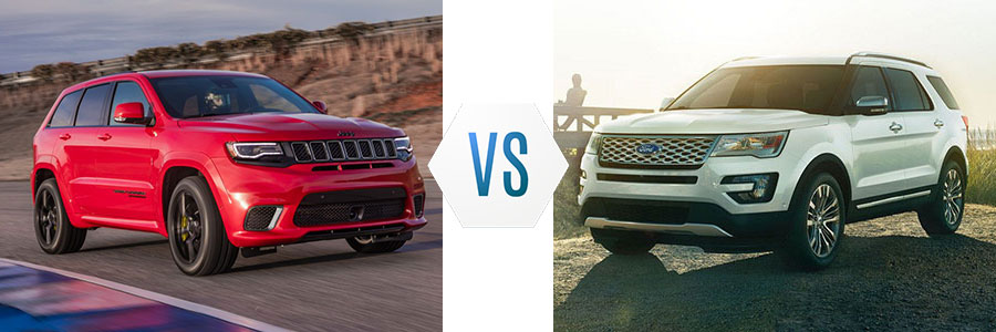 2018 Jeep Grand Cherokee vs Ford Explorer