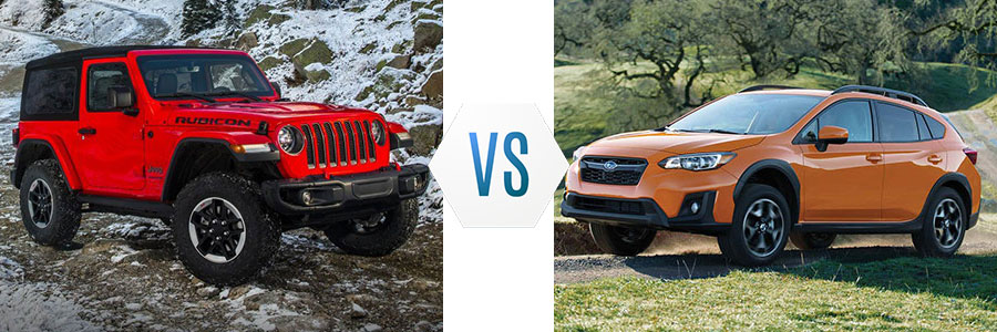 2018 Jeep Wrangler vs Subaru Crosstrek