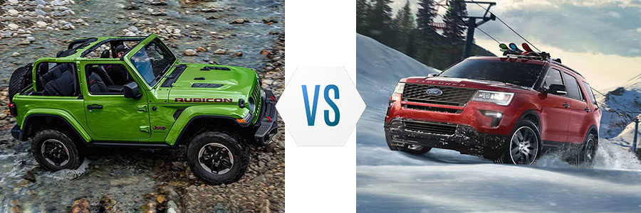 2019 Jeep Wrangler vs Ford Explorer