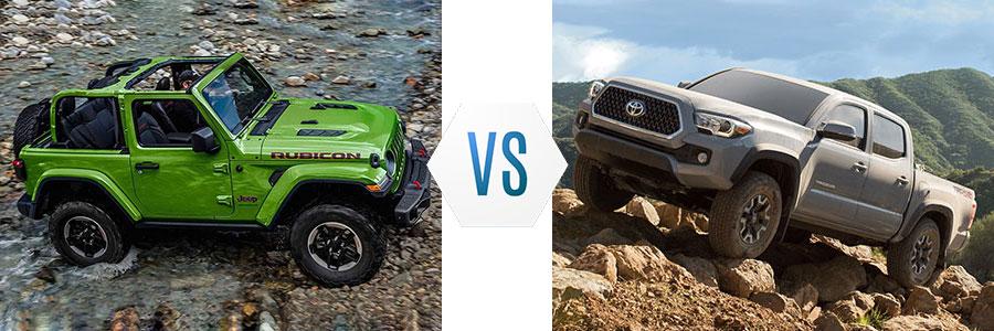 2019 Jeep Wrangler vs Toyota Tacoma