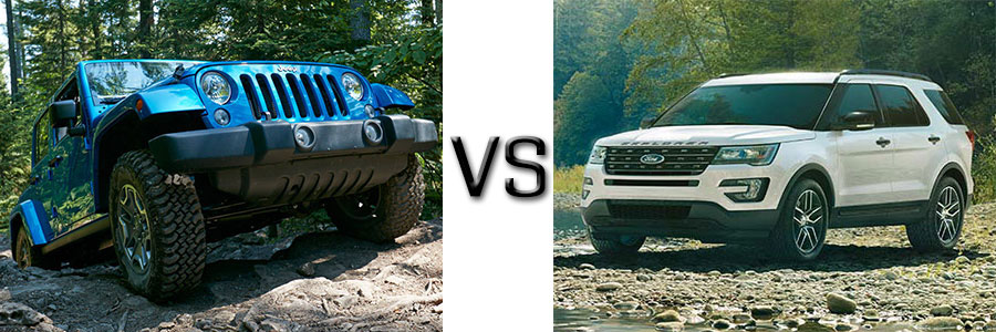 2016 Jeep Wrangler Unlimited vs Ford Explorer