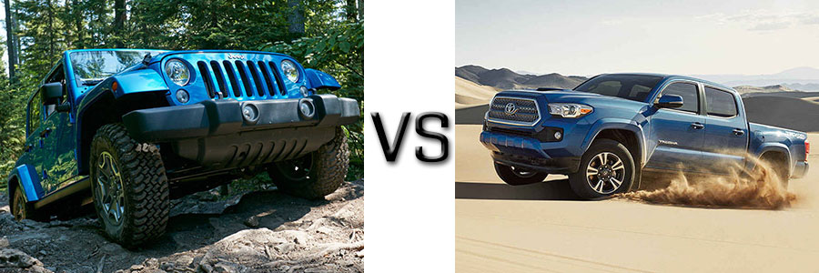 2016 Jeep Wrangler Unlimited vs Toyota Tacoma