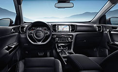 2017 Kia Sportage Ergonomic Interior Console