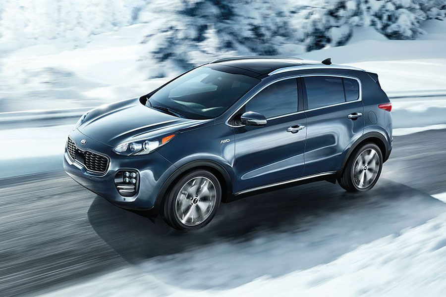Kia Sportage on the Road