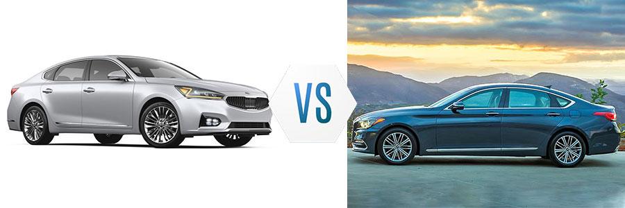 2018 Kia Cadenza Limited vs Genesis G80
