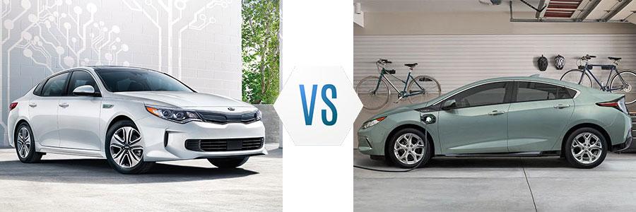 2018 Kia Optima Plug-In Hybrid vs Chevrolet Volt