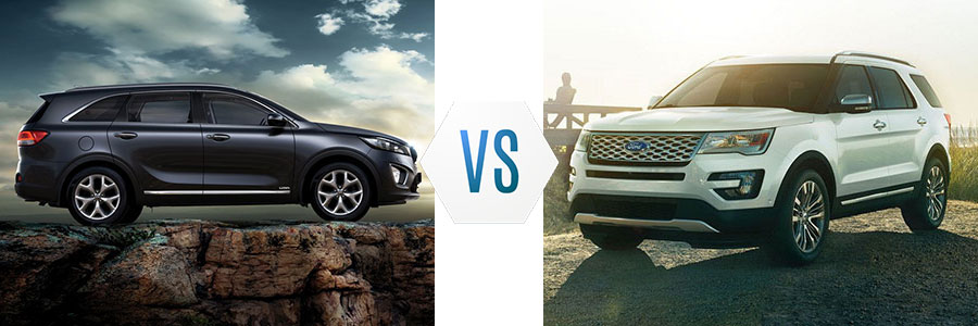 2018 Kia Sorento vs Ford Explorer