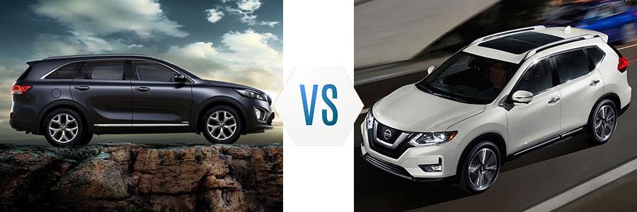 2018 Kia Sorento vs Nissan Rogue