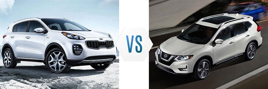 2017 Kia Sportage vs Nissan Rogue