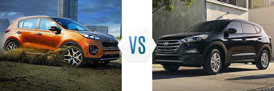 2018 Kia Sportage vs Hyundai Tucson