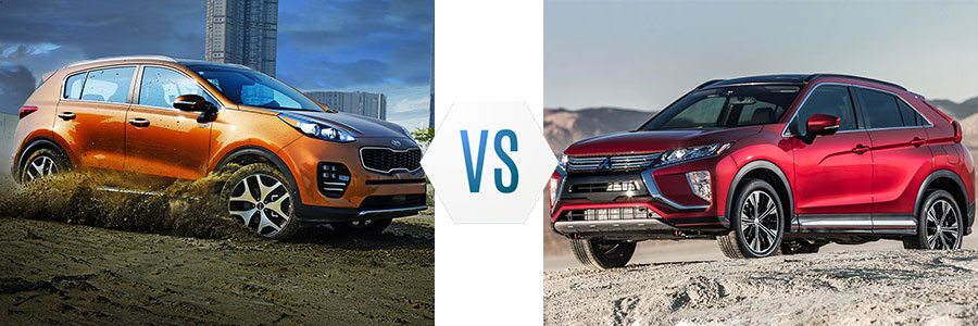 2018 Kia Sportage vs Mitsubishi Eclipse Cross