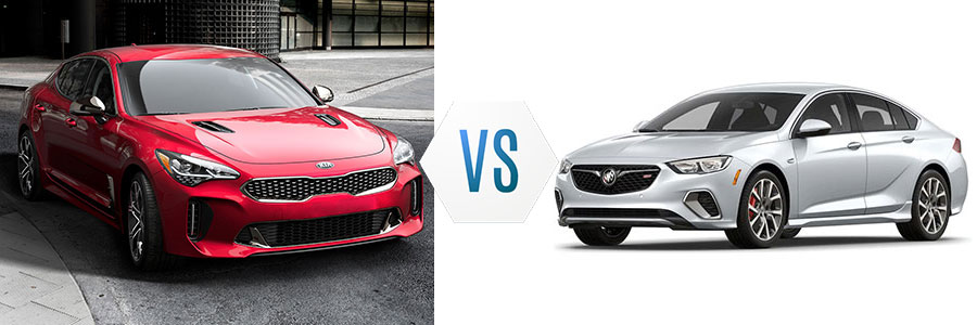2018 Kia Stinger vs Buick Regal GS