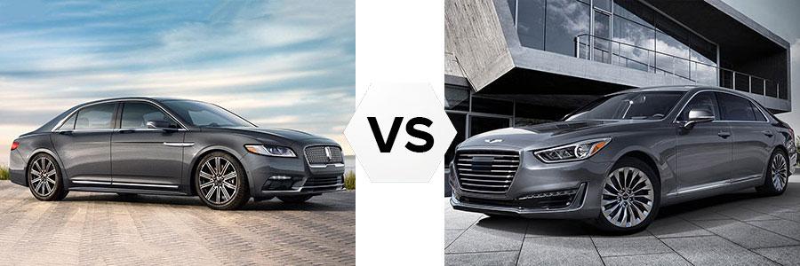 2017 Lincoln Continental vs Hyundai Genesis 690