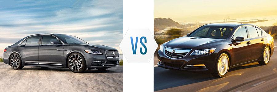2017 Lincoln Continental vs Acura RLX