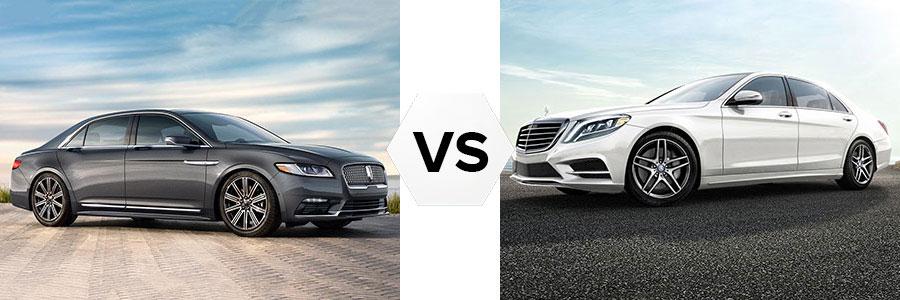 2017 Lincoln Continental vs Mercedes-Benz S Class