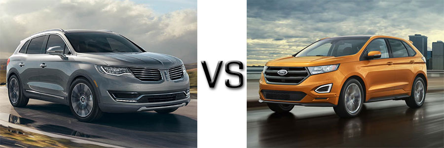 2016 Lincoln MKX vs Ford Edge