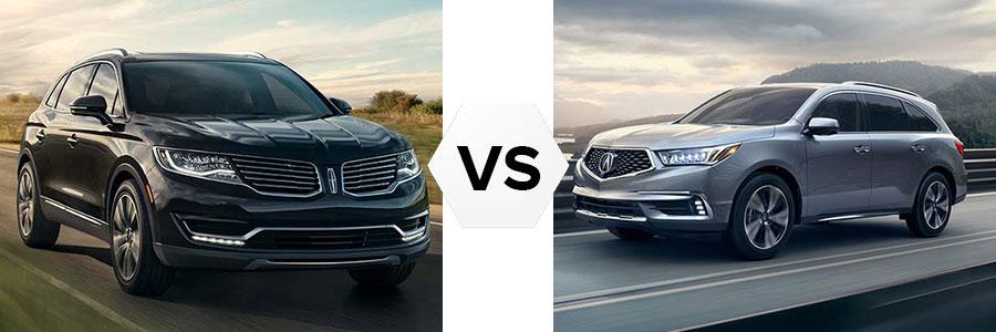 2017 Lincoln MKX vs Acura MDX