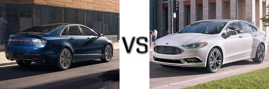 2017 Lincoln MKZ vs Ford Fusion