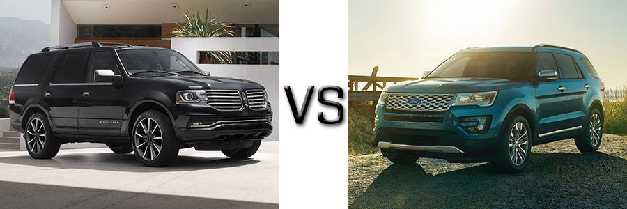 2017 Lincoln Navigator vs Ford Explorer