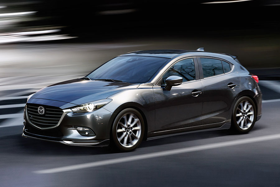 2019 Mazda 3 Hatchback on the Road