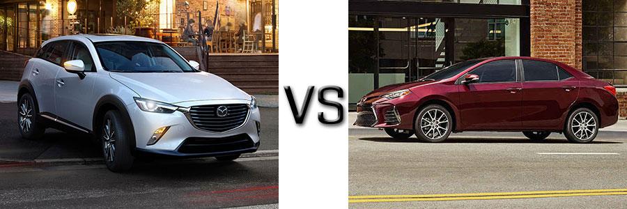 2017 Mazda CX-3 vs Toyota Corolla