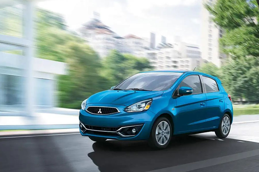 2020 Mitsubishi Mirage on the Road