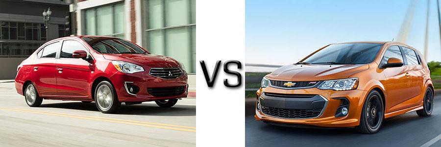 2017 Mitsubishi Mirage G4 vs Chevrolet Sonic