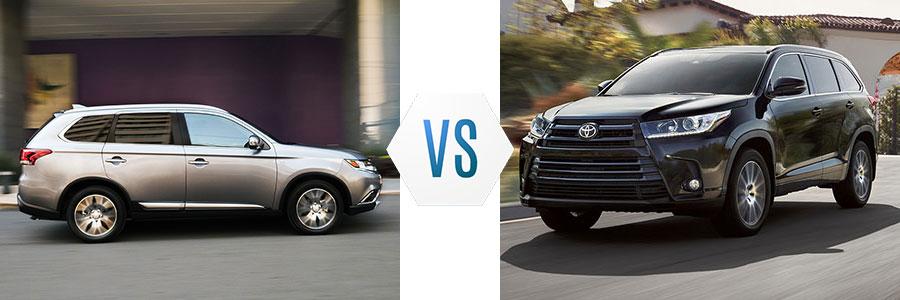 2017 Mitsubishi Outlander vs Toyota Highlander