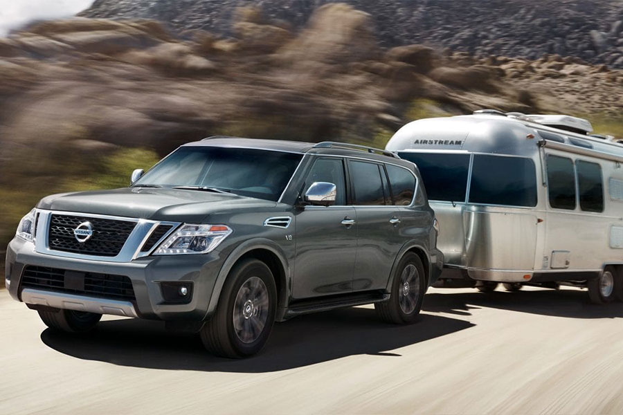 2019 Nissan Armada on the Road