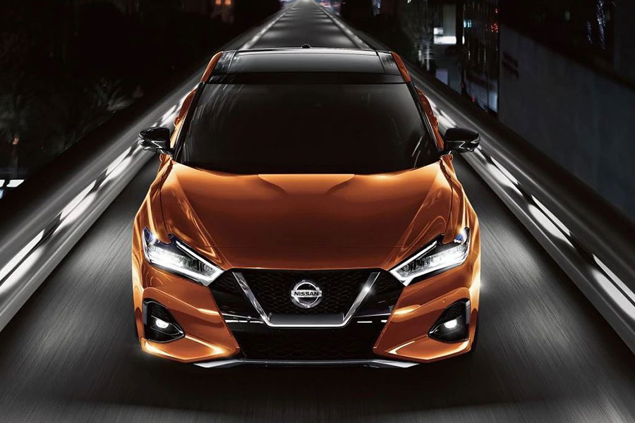 2019 Nissan Maxima on the Road
