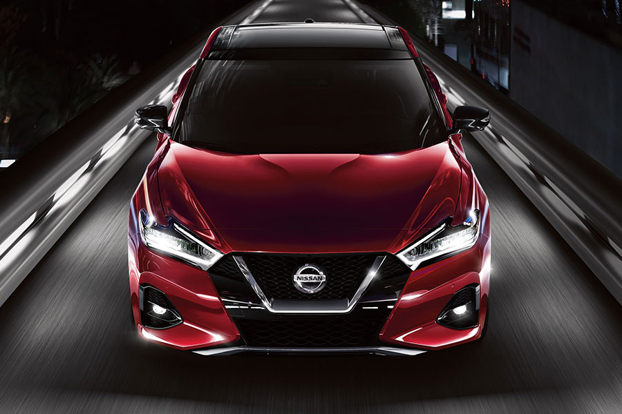 2020 Nissan Maxima on the Road