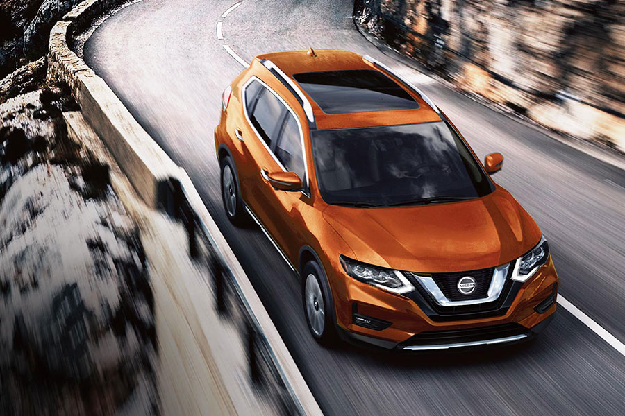 2020 Nissan Rogue on the Road