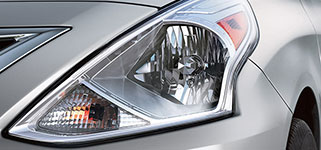 2017 Nissan Versa Multi-reflector Halogen Headlights