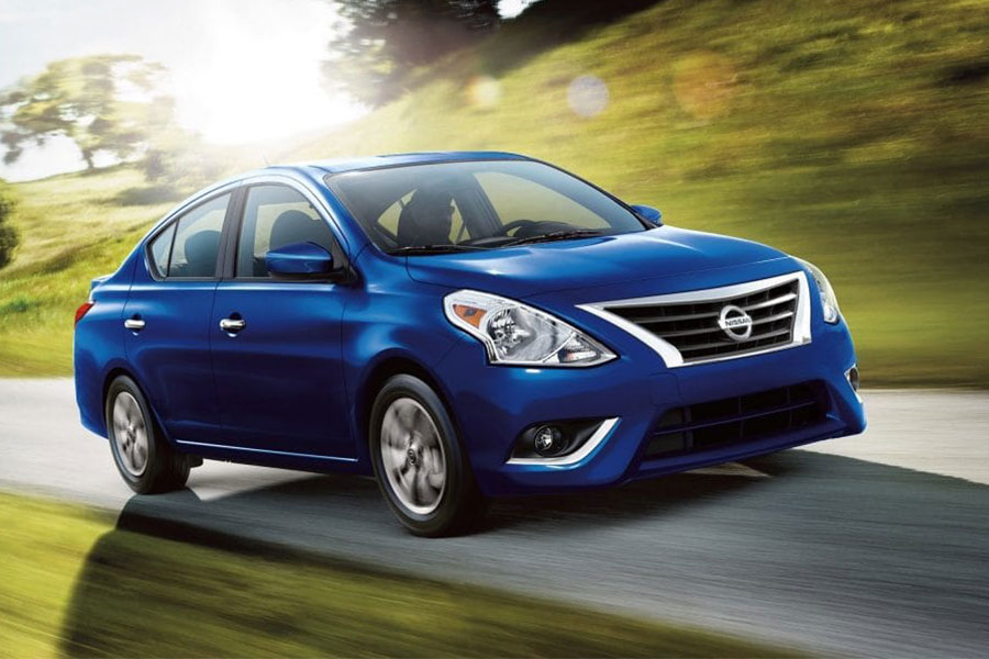 2019 Nissan Versa on the Road