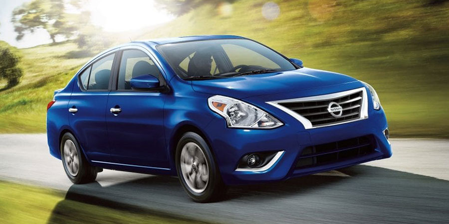 2019 Nissan Versa Sedan on the Road