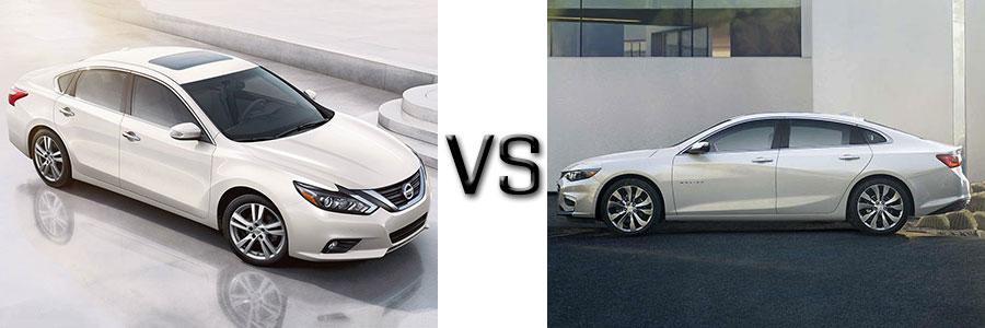 2017 Nissan Altima vs Chevrolet Malibu
