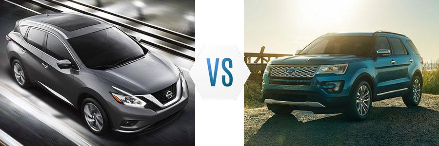 2017 Nissan Murano vs Ford Explorer