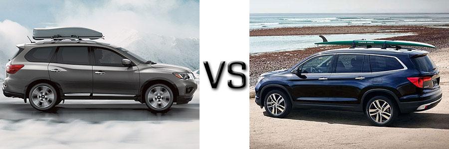 2017 Nissan Pathfinder vs Honda Pilot