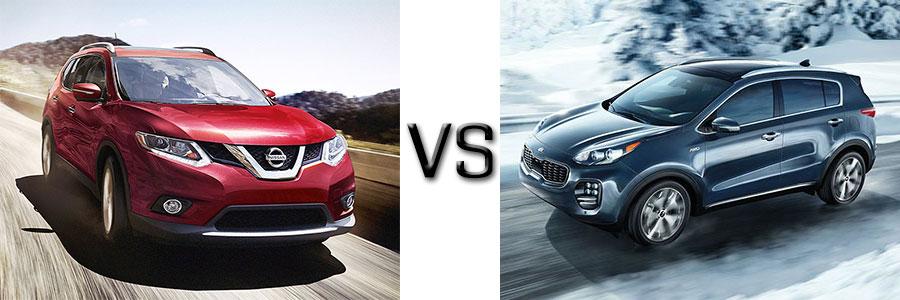 2016 Nissan Rogue vs Kia Sportage